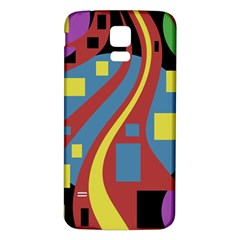 Colorful abstrac art Samsung Galaxy S5 Back Case (White)