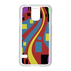 Colorful abstrac art Samsung Galaxy S5 Case (White)