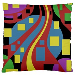 Colorful abstrac art Standard Flano Cushion Case (One Side)