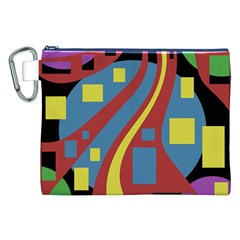 Colorful abstrac art Canvas Cosmetic Bag (XXL)