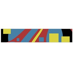 Colorful abstrac art Flano Scarf (Large)