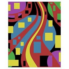 Colorful abstrac art Drawstring Bag (Small)