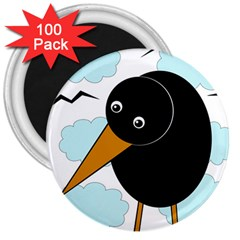 Black raven 3  Magnets (100 pack)
