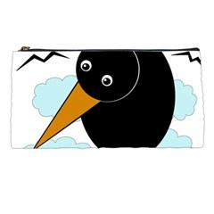 Black raven Pencil Cases