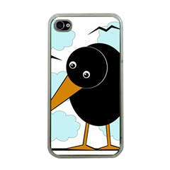 Black raven Apple iPhone 4 Case (Clear)