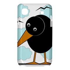 Black raven Samsung Galaxy SL i9003 Hardshell Case