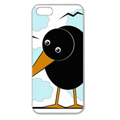 Black raven Apple Seamless iPhone 5 Case (Clear)