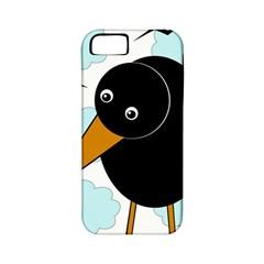 Black raven Apple iPhone 5 Classic Hardshell Case (PC+Silicone)