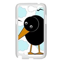Black raven Samsung Galaxy Note 2 Case (White)