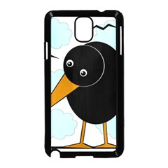 Black raven Samsung Galaxy Note 3 Neo Hardshell Case (Black)