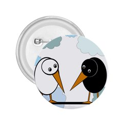 Black and white birds 2.25  Buttons