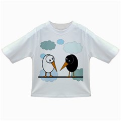 Black and white birds Infant/Toddler T-Shirts
