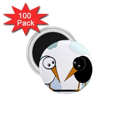 Black and white birds 1.75  Magnets (100 pack)