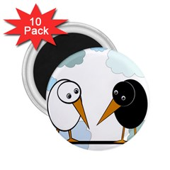 Black and white birds 2.25  Magnets (10 pack)