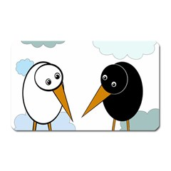 Black and white birds Magnet (Rectangular)