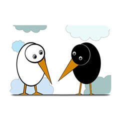 Black and white birds Plate Mats
