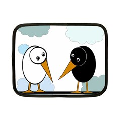 Black and white birds Netbook Case (Small)