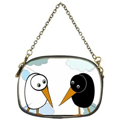 Black and white birds Chain Purses (Two Sides)