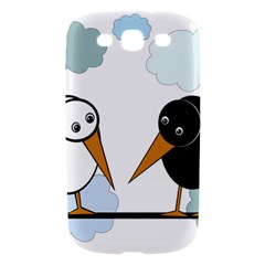 Black and white birds Samsung Galaxy S III Hardshell Case