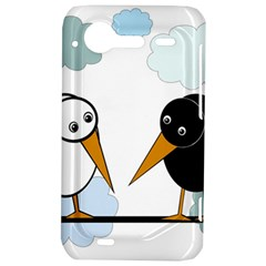 Black and white birds HTC Incredible S Hardshell Case