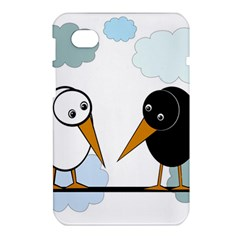 Black and white birds Samsung Galaxy Tab 7  P1000 Hardshell Case