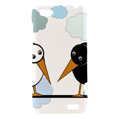 Black and white birds HTC One V Hardshell Case