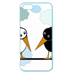 Black and white birds Apple Seamless iPhone 5 Case (Color)