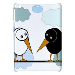 Black and white birds Apple iPad Mini Hardshell Case