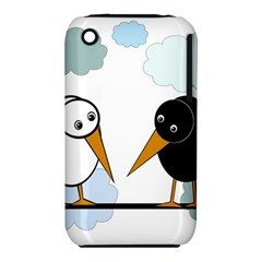 Black and white birds Apple iPhone 3G/3GS Hardshell Case (PC+Silicone)