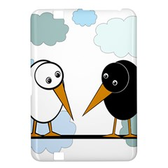 Black and white birds Kindle Fire HD 8.9