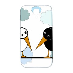 Black and white birds Samsung Galaxy S4 I9500/I9505  Hardshell Back Case