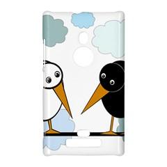 Black and white birds Nokia Lumia 925
