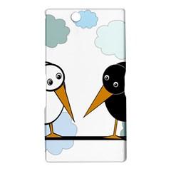 Black and white birds Sony Xperia Z Ultra