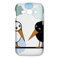 Black and white birds Samsung Galaxy Ace 3 S7272 Hardshell Case