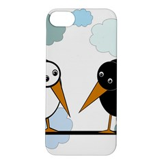 Black and white birds Apple iPhone 5S/ SE Hardshell Case