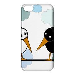 Black and white birds Apple iPhone 5C Hardshell Case