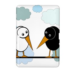 Black and white birds Samsung Galaxy Tab 2 (10.1 ) P5100 Hardshell Case