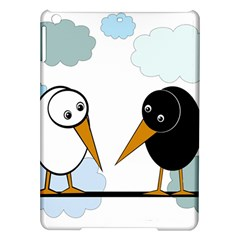 Black and white birds iPad Air Hardshell Cases