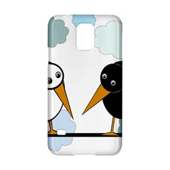 Black and white birds Samsung Galaxy S5 Hardshell Case