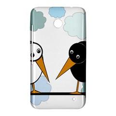 Black and white birds Nokia Lumia 630