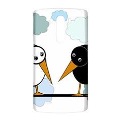 Black and white birds LG G3 Back Case