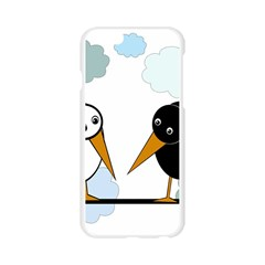 Black and white birds Apple Seamless iPhone 6/6S Case (Transparent)