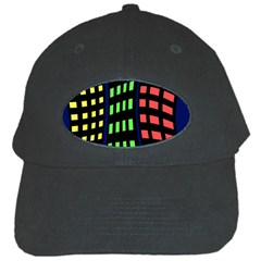 Colorful abstract city landscape Black Cap