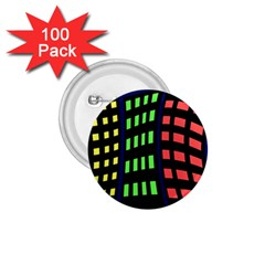 Colorful abstract city landscape 1.75  Buttons (100 pack)