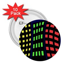 Colorful abstract city landscape 2.25  Buttons (10 pack)