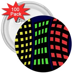 Colorful abstract city landscape 3  Buttons (100 pack)
