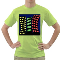 Colorful abstract city landscape Green T-Shirt