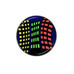 Colorful abstract city landscape Hat Clip Ball Marker