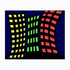 Colorful Abstract City Landscape Small Glasses Cloth