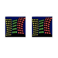 Colorful abstract city landscape Cufflinks (Square)